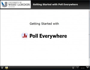 Learn how to use poll Everywhere in your teaching