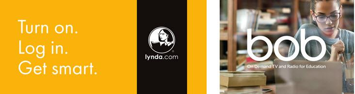 lynda.com and bob logos