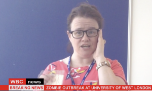 newsreader announces zombie outbreak